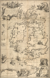 A Chart Wherin Are Marked All The Different Routes Of P. Edward…, James A Grant, 1749